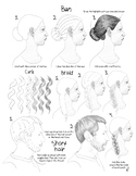 How to Draw 4 hair styles