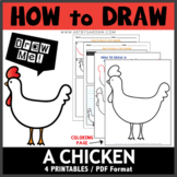 How to Draw A Chicken - Directed Drawing