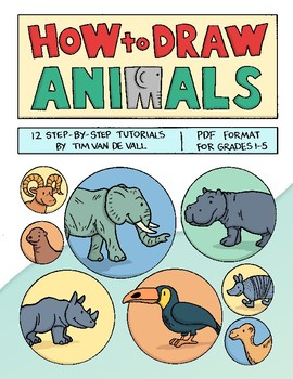 How to Draw Animals! 12 Drawing Tutorials for Kids