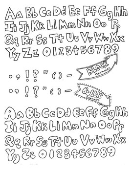 How to Draw Block and Bubble Letters