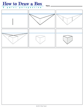 How to Draw Boxes - 2 Point Perspective