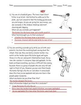 How to Draw Clonclusions Worksheets