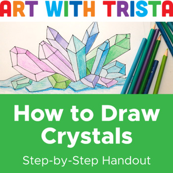 How to Draw Crystals Step by Step