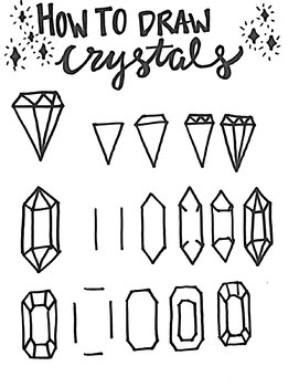 How to Draw Crystals Worksheet