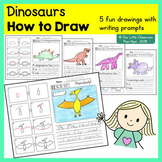 How to Draw:  Dinosaur Directed Drawings