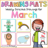 Spring Directed Drawings for March | leprechaun, rainbow,