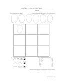 How to Draw Faces!  Complete art class handout worksheet.