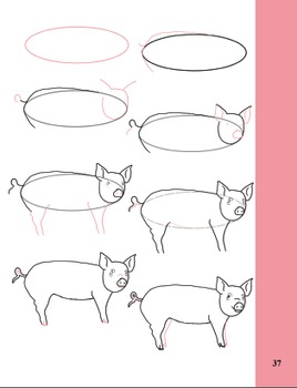 Image of: Sheep How To Draw Farm Animals Teachers Pay Teachers How To Draw Farm Animals By Art Class With Ms Tpt