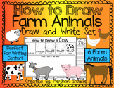 How to Draw Farm Animals- Writing Center and Directed Drawings
