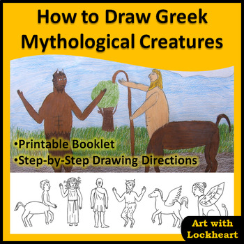 How to Draw Greek Mythological Creatures Booklet