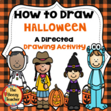 Halloween A How to Draw Directed Drawing Activity