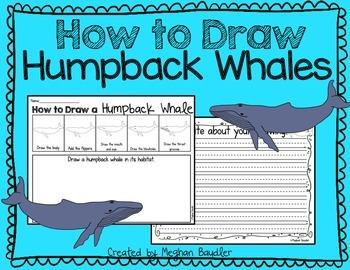 How to Draw Humpback Whales- Writing Center Freebie!
