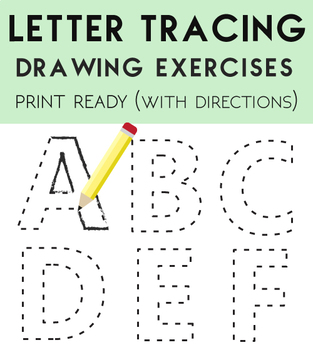 How to Draw Letters (Lettering Tracing)