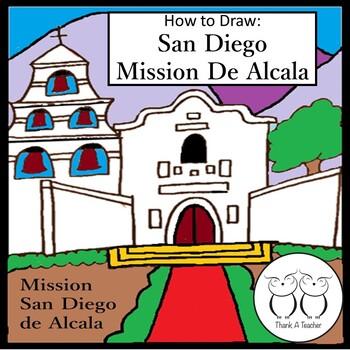 How to Draw Mission San Diego De Alcala