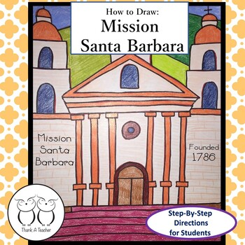 how to draw mission santa barbara