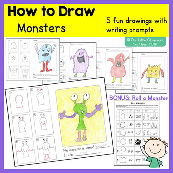 How to Draw:  Monster Directed Drawings