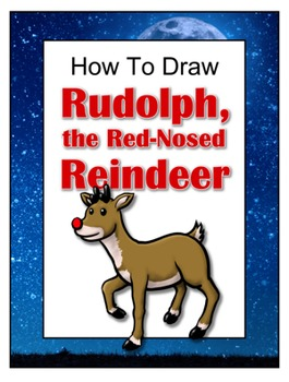 how to draw rudolph the red nosed reindeer by drawing with john tpt how to draw rudolph the red nosed reindeer