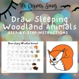 How to Draw Sleeping Woodland Animals - Step-by-Step for g