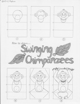 How to Draw Swinging Chimpanzees Instruction Page