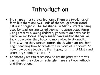 How to Draw Three Dimensional Shapes for back to school