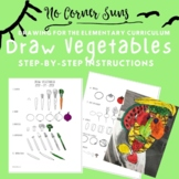 How to Draw Vegetables - Step-by-Step Elementary Art- Stil