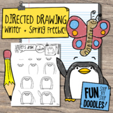 How to Draw Winter + Spring Animals: Directed Drawing Freebie