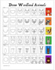 How to Draw Woodland Animal Portraits - Easy for grades K-2
