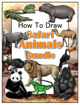 How to Draw Safari Animals Bundle