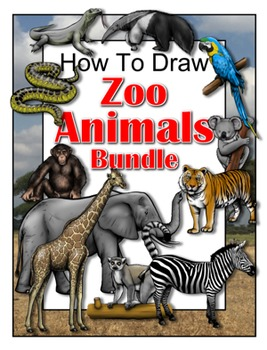 How to Draw Zoo Animals Bundle
