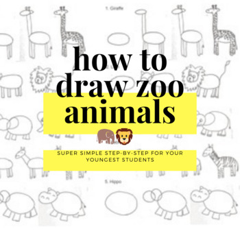 How to Draw Zoo Animals!  Ready to use worksheet/handout f