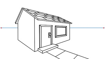 How To Draw A 3D House (2 Point Perspective)