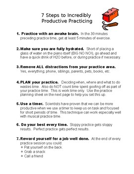 7 Steps to Incredibly Productive Practicing