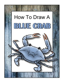 How to Draw a Blue Crab