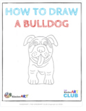 How to Draw a Bulldog (Step by Step Guided Drawing Instructions)