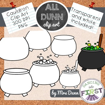 How to Draw a CAULDRON Halloween Clip Art- Directed Drawing