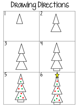 How to Draw a Christmas Tree Art & Writing Activity