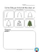 How to Draw a Christmas Tree Step-By-Step in English and Spanish