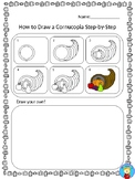 How to Draw a Cornucopia Step-By-Step English and Spanish