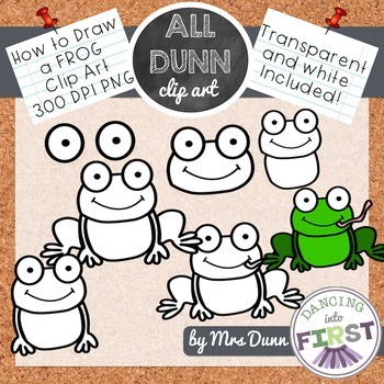 How to Draw a FROG Clip Art- Directed Drawing