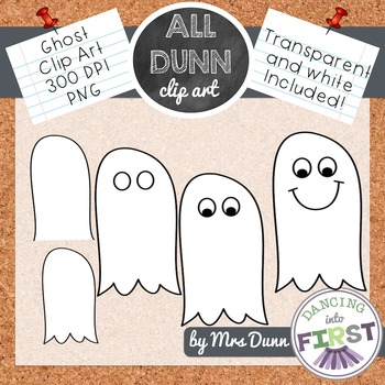 How to Draw a GHOST Halloween Clip Art- Directed Drawing