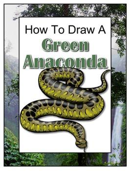 How to Draw a Green Anaconda