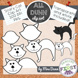 How to Draw a HALLOWEEN CAT Clip Art- Directed Drawing