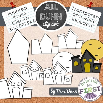 How to Draw a HAUNTED HOUSE Halloween Clip Art- Directed Drawing