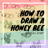 How to Draw a Honey Bee and a little Bee anatomy diagram
