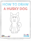 How to Draw a Husky Dog (Step by Step Guided Drawing Instr