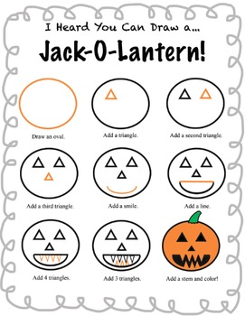How to Draw a Jack-O-Lantern! October Activities for Elementary School