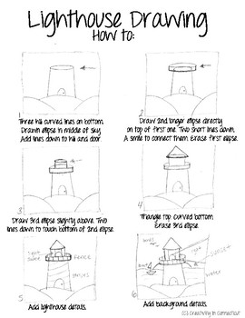 How to Draw a Lighthouse Handout