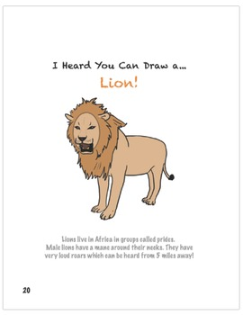 How to Draw a Lion ROAAARING!
