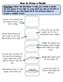 How to Draw a Mouth - Mouth Warm-Up Worksheet