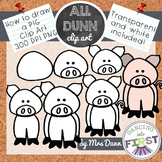 How to Draw a PIG Clip Art- Directed Drawing